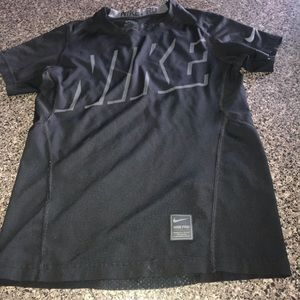 Boys Nike Pro Black & Grey Fitted SS Size S